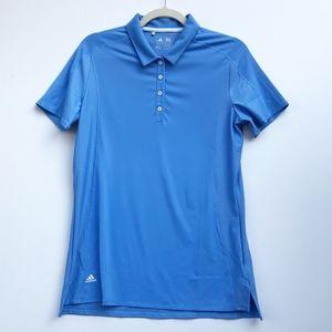Adidas Blue Polo Athletic Short Sleeve Top Medium